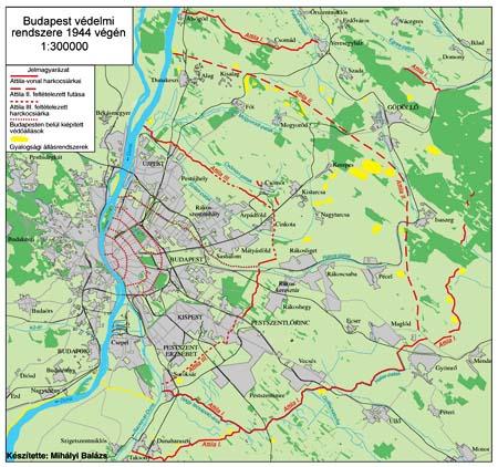 budapest ostroma térkép Budapest védelmi vonalainak rekonstrukciója (1944) | Magyarok a II  budapest ostroma térkép