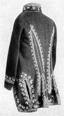 Selyemmel hímzett posztókabát a XVIII. század végéről.  (Magyar Nemzeti  Múzeum.) 6db929a34a