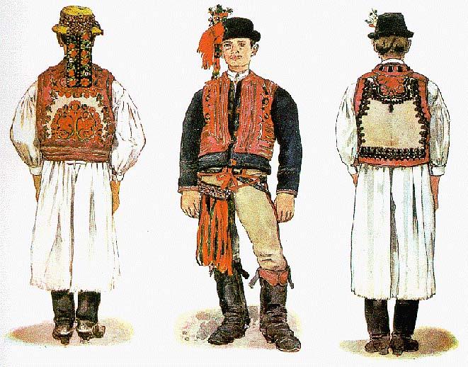 2b0bba815d Kalotaszegi női és férfi viselet (Körösfő, B.-Hunyad, Magyarókereke, Mákó).  (V. tb. b.)