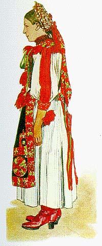 35c1981dab Kalotaszegi női viselet s a párta (Körösfő, M.-Gy.-Monostor, B.-Hunyad).  (VII. tb. b.)