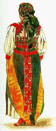 2a2167f681 Kalotaszegi női viselet s a párta (Körösfő, M.-Gy.-Monostor, B.-Hunyad).  (VII. tb. b.)