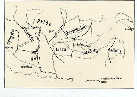 nyelvjárások térkép Nyelvjárások a térképen   Pannon Enciklopédia   Kézikönyvtár